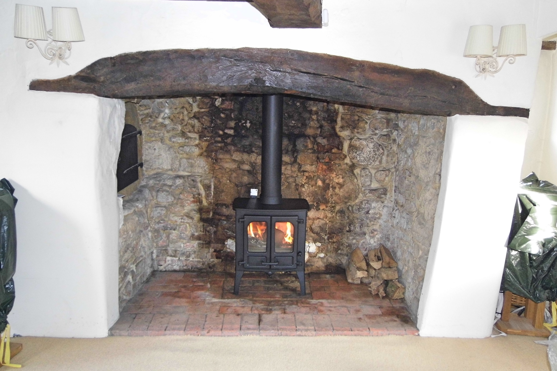 long crendon reinstating an inglenook
