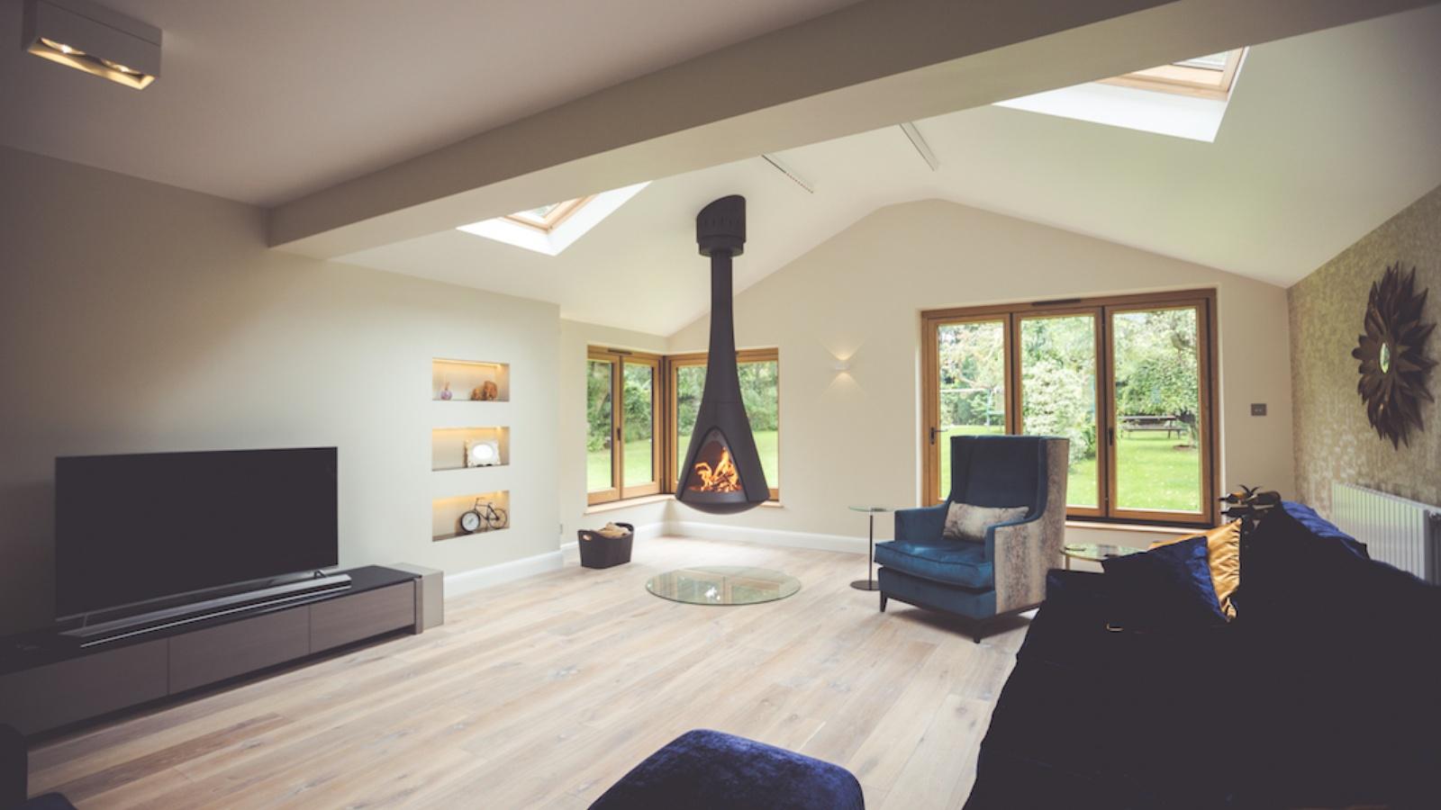 Harrie Leenders Pharos suspended stove - Chesham Bois