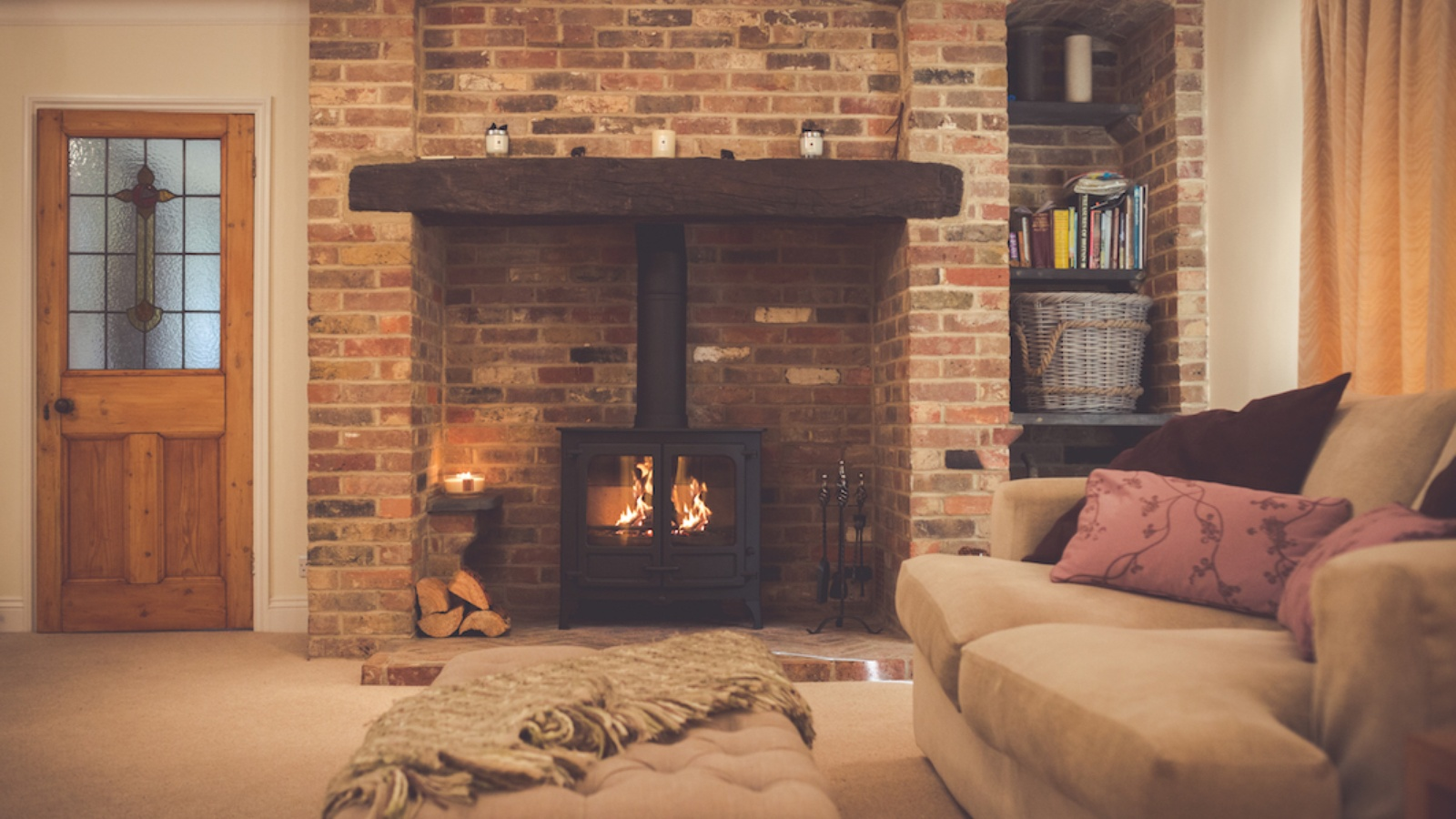 The Charnwood Island 3 12kW stove creates a timeless classic fireplace feature.