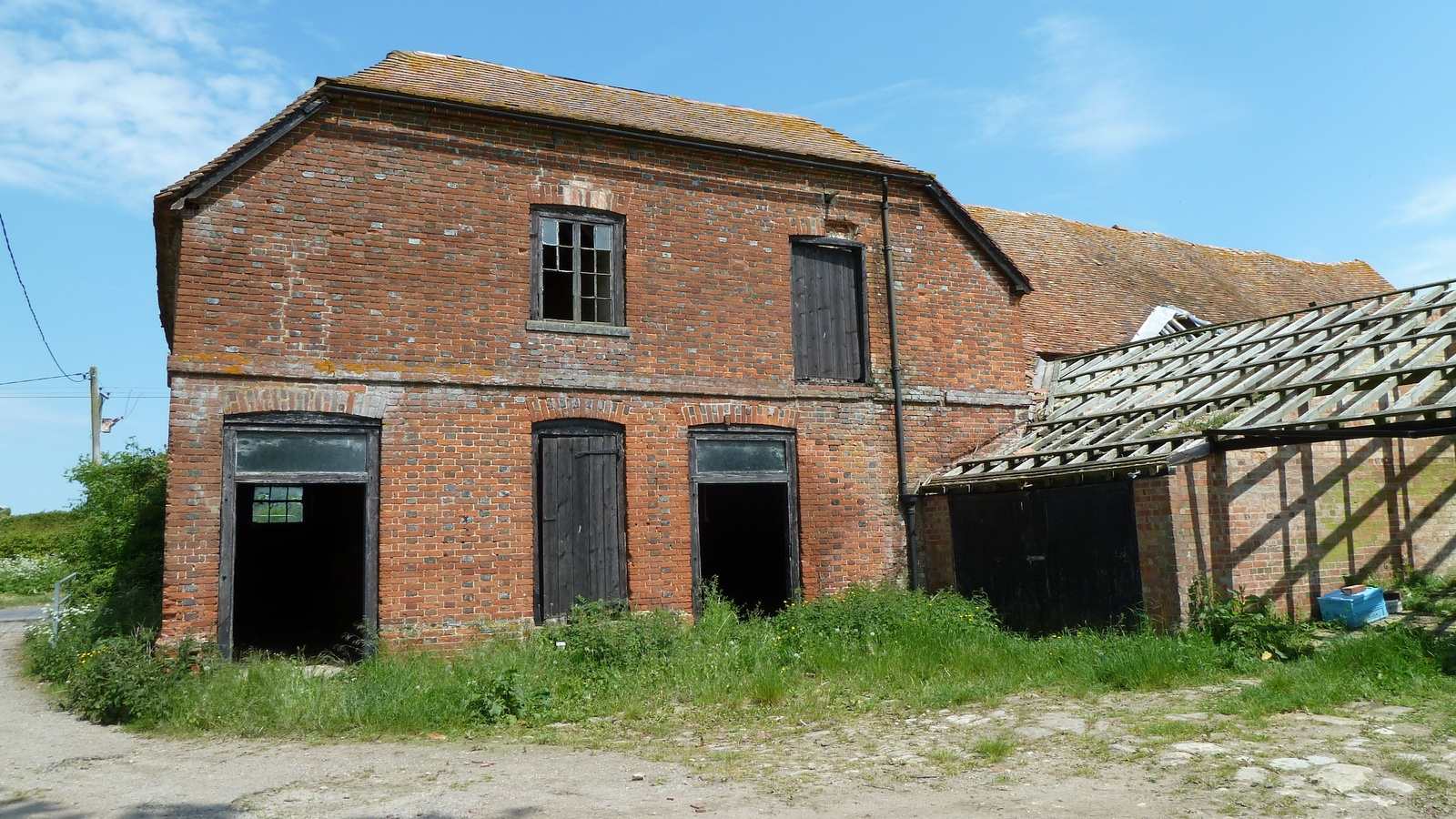 The original barns were in a dilapidated condition