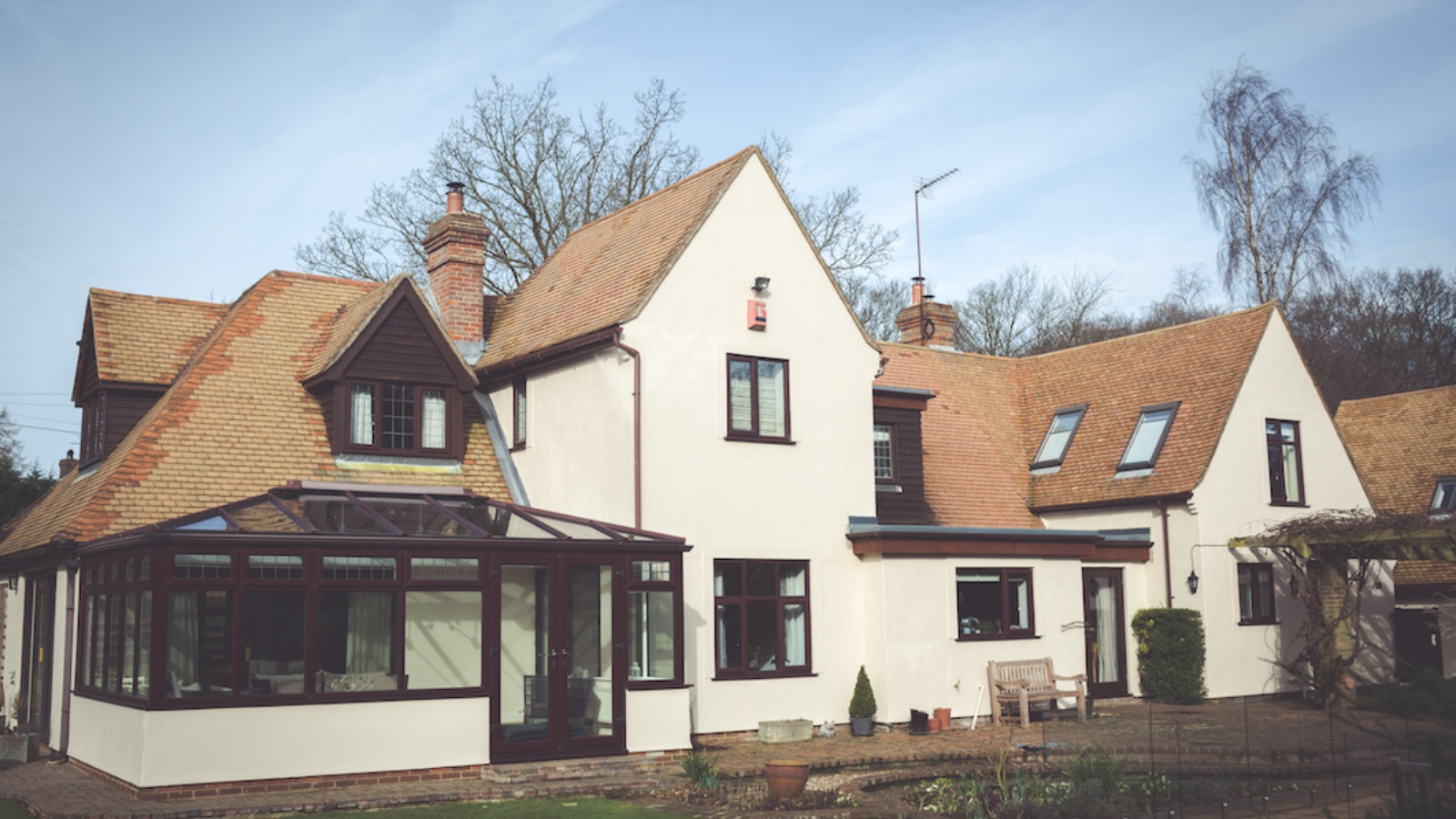 Freshly cleaned rooftops and new cowls make a very smart home ready for all seasons.