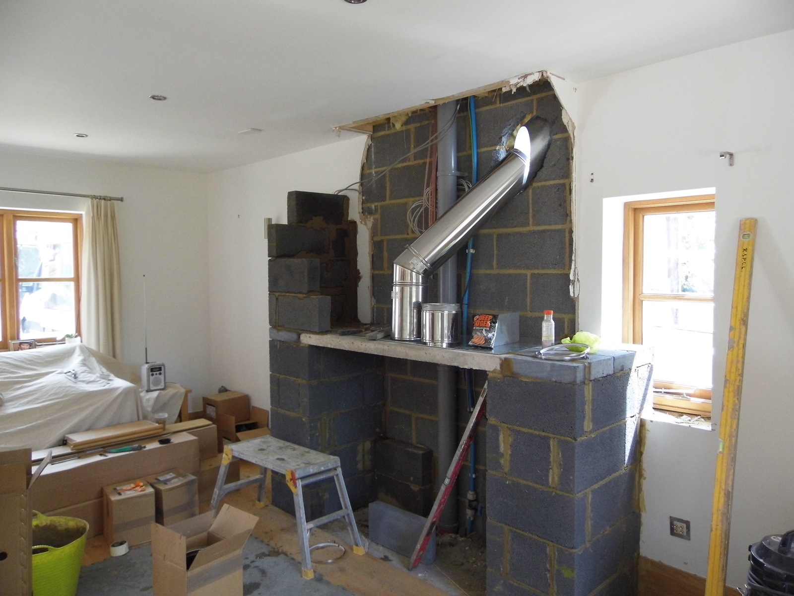 Faux Chimney Breast Constructed