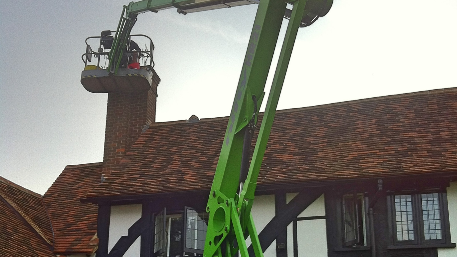 Awkward chimneys or fragile roofs may need specialist access equipment
