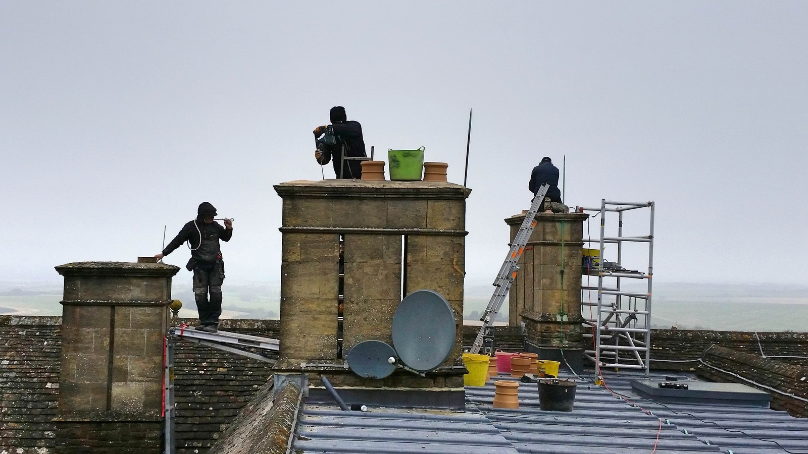 The team work hard to ensure works are carried out carefully and safely.