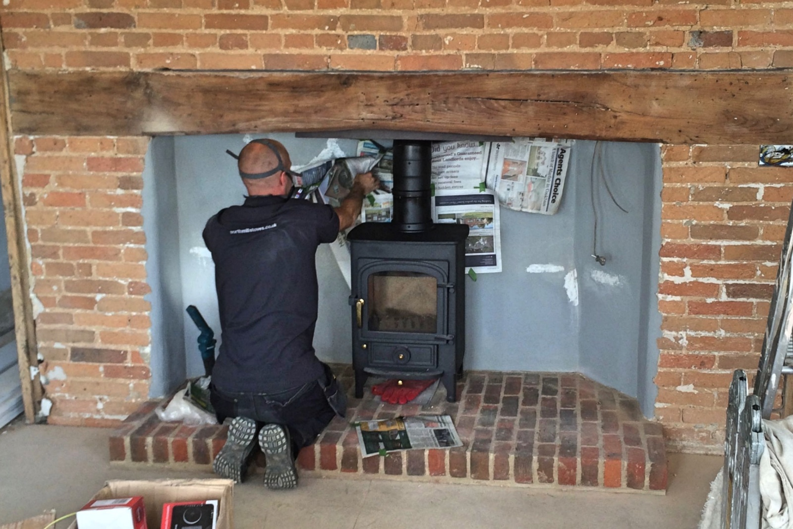 A Berkshire Farmhouse receives a thorough renovation and new stove