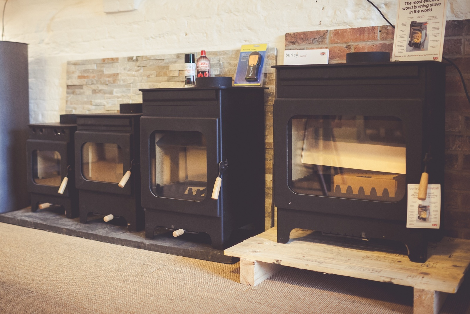The Burley Fireball display at our Bledlow showroom