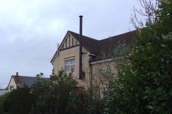 External Twin Wall Flue to a property in Stadhampton