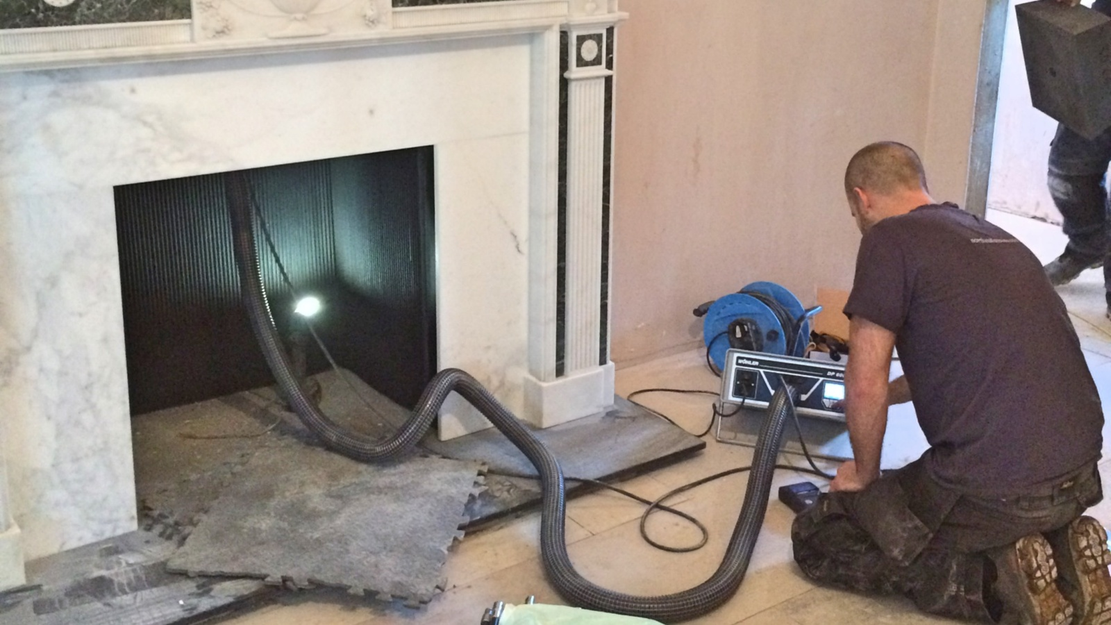 A Type 1 Smoke Pressure Test assesses the integrity of a chimney. This is different to a Type 2 Smoke Evacuation Test