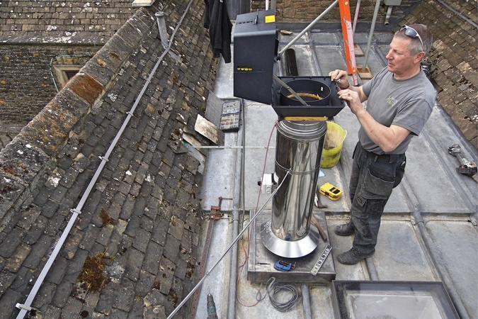 Fans can assist draw where flues need to be hidden or height can't easily be achieved