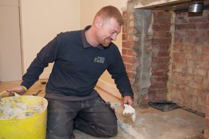 HETAS Engineer - Bedding a fireplace hearth
