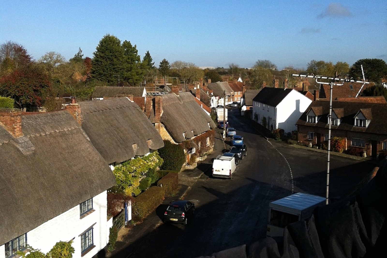 The beautiful thatched rooftops of Long Crendon village.