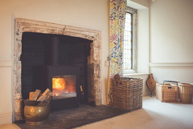 This stunning original fireplace was found behind a modern marble surround in a Grade 1 listed property in Oxfordshire.